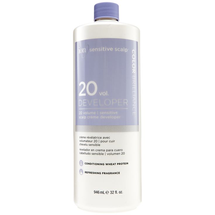 ion Color Brilliance Sensitive Scalp 20 Volume Creme Developer is designed for superior gray coverage and for standard lightening action with all permanent hair colors or lighteners.