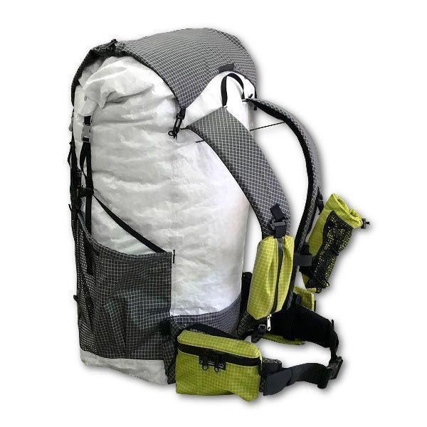 Cuben Fiber Pack Full Back Detail Backpacking Gear Backpacking Hammock Ultralight Backpacking