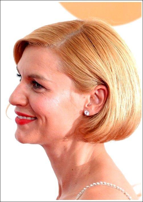 Claire Danes Kurzer Haarschnitt: Blonde Bob-Frisur