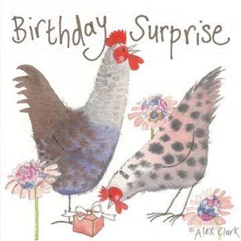 Birthday Chickens Greetings Card | Alex Clark Card