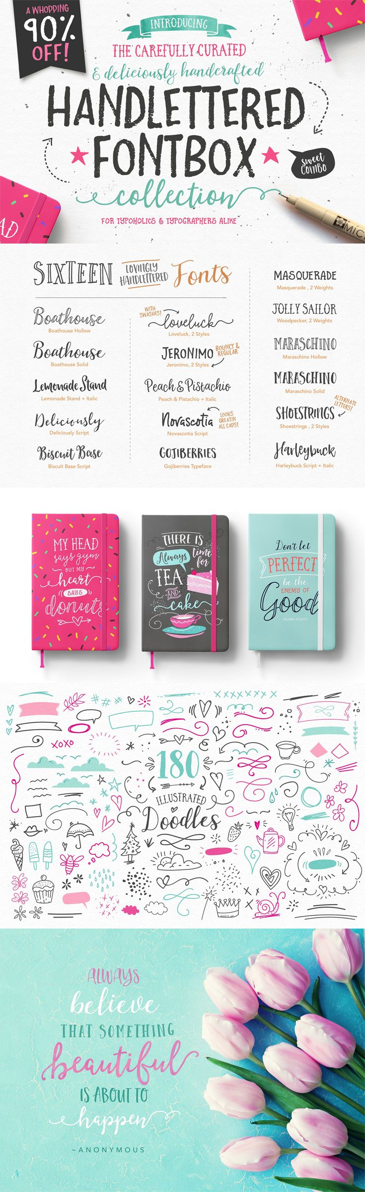 Handlettered fonts, calligraphy fonts, wedding fonts, logos, branding, brush script, feminine, typography