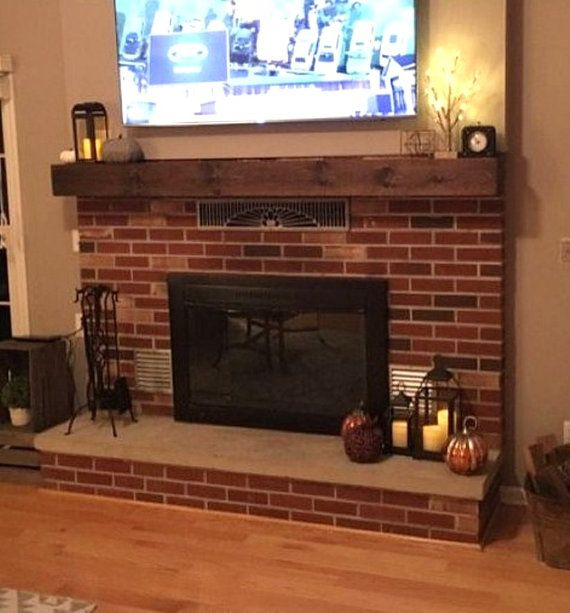 Were happy to add a rustic beam mantel piece to our store. It would look great over any fireplace or even on any wall. It is made to look like a heavy beam, but is very light. Each one will have its own unique look, as no two pieces of wood are the same.  They are available in lengths of 60 and 72, but custom lengths are available upon request. The beams are about 6 high by about 6 deep. They come with all mounting hardware.  Any of our products can be stained or painted any color you so…