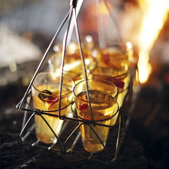 Mulled cider is the perfect drink for when guests arrive on Bonfire Night. Click the image for your free 10-page autumn special filled with 5th November recipes.