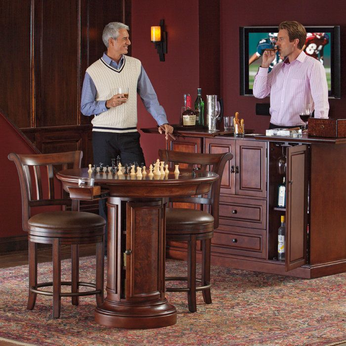 $1,692 Home Bar Cabinet. Also The Chairs, Table, Chess Set, Humidor,