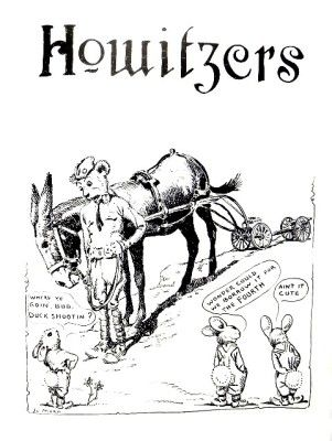 Jo Mora's historic illustrations THE BEAR-CAT MUSKETEER: Civilian   Military Training Camp, Del Monte, California, circa 1920's. (Used only   with permission of The Jo Mora Trust - Peter Hiller, curator )       Courtesy: Greg Krenzelok, U.S. Army Veterinary Corps Preservation Group,   Researcher & Historia (USA).