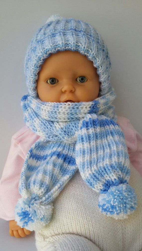 Beret and scarf Hat and scarf Child scarf hat от KnittingAndYarns