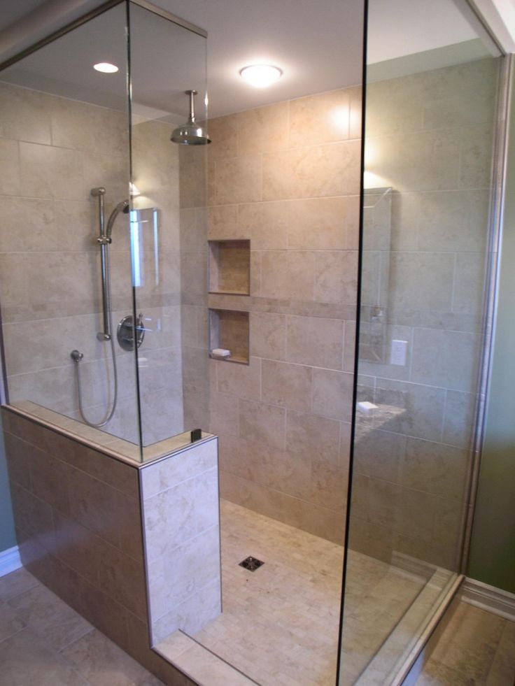 Bathroom, Elegant Square Glass Shower Room With Cool Stainless Water Faucet And Soap Crock: 22 Interesting Shower Ideas For Small Bathrooms