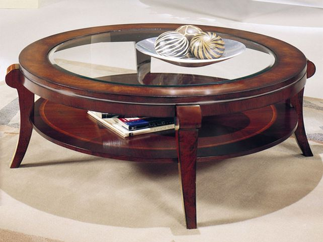 Image result for wood and glass table - 25+ Best Ideas About Round Wood Coffee Table On Pinterest