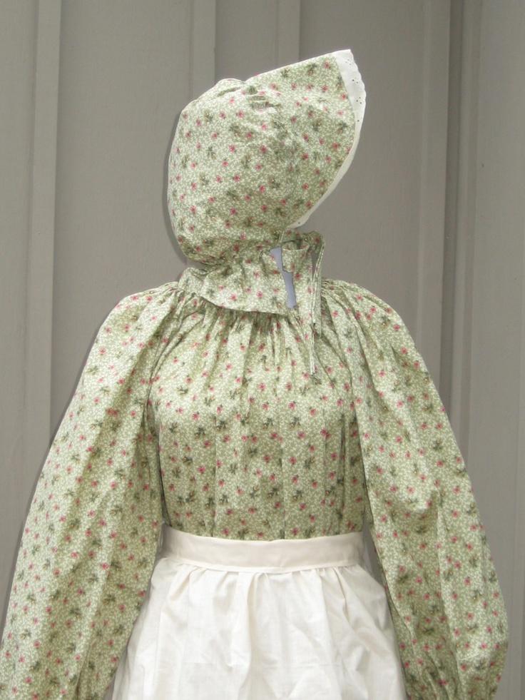 Prairie Pioneer Colonial Dress Costume Civil War Frontier SASS Womens Girls Green Bonnet Apron 3 pc set. $64.99, via Etsy.: Sass Womens, Colonial Dress, Pioneer Colonial, Prairie Pioneer, Pioneer Dresses, Civil War
