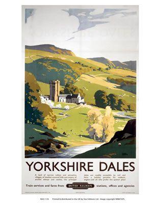 Yorkshire Dales on VintageRailPosters.co.uk Prints