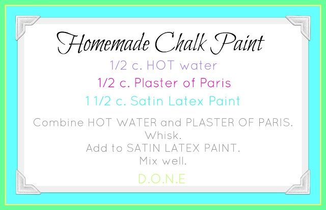 Our Prairie Home: Homemade Chalk Paint RecipeDiy Ideas, Projects, Crafts Ideas, Beach Cottages, Chalkboards Painting, Prairie, Chalk Paint Recipes, Homemade Chalk Painting, Chalk Painting Recipe