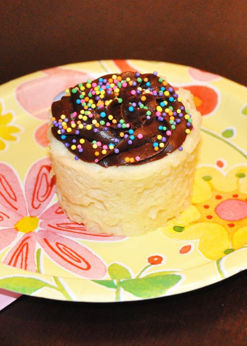 "Easy Microwave Cupcake Recipe.  I hate cooking anything in the microwave (minor reheats only), but if you're stuck in a hotel room and need to make a cake, this is perfect. Be sure to read her note to ""gussy up your cupcakes""."