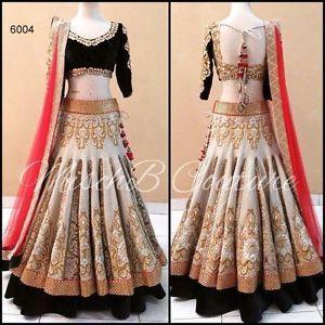 UK Indian Bollywod Bridal Traditional Velvet NET Lengha Choli Party Wear | eBay