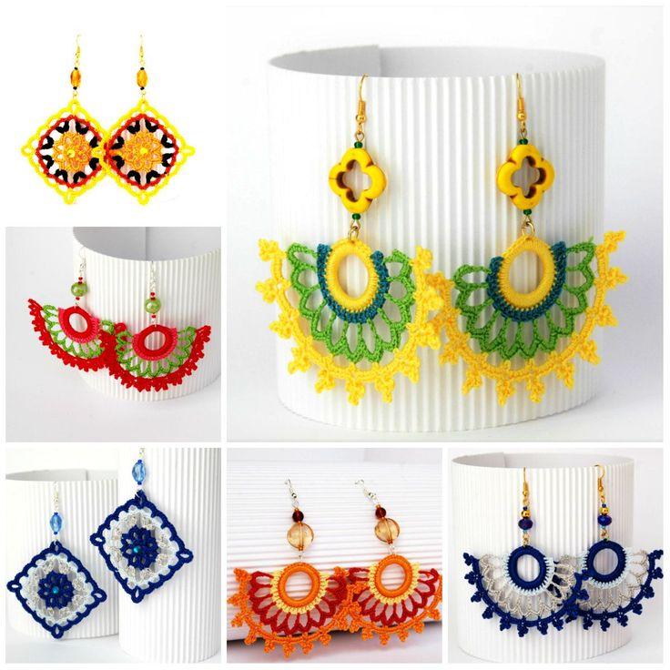 Crochet earrings - Pendientes de ganchillo - Lindapaula