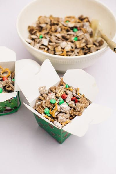 Make sure to feed Santa's reindeer with this fun mix of chocolate chips, Chex cereal, peanut butter and pretzels!
