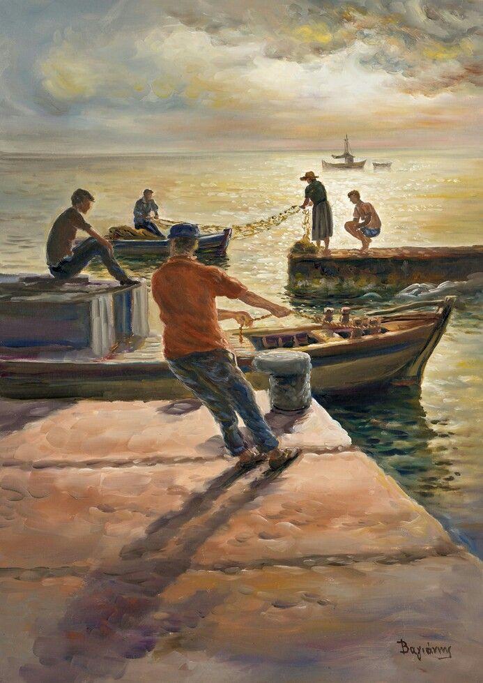 """Πιστεύω οτι η ζωγραφική είναι ποίηση και οτι η ποίηση είναι έμπνευση. (..) Σκύβοντας στη ζεστή ουσία της ζωής γινόμαστε τελειότεροι.""""Β. Βαγιάννης"""