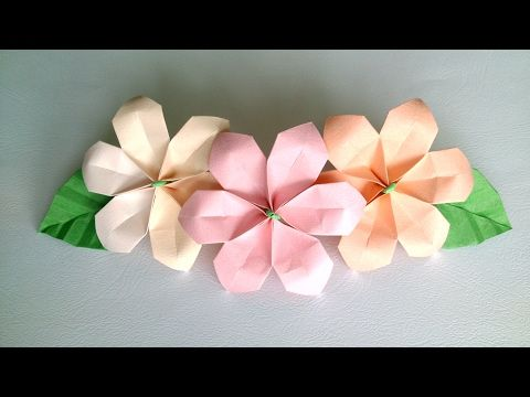 Origami Flower - Сute and Easy Paper Flowers for decoration, My Crafts and DIY Projects