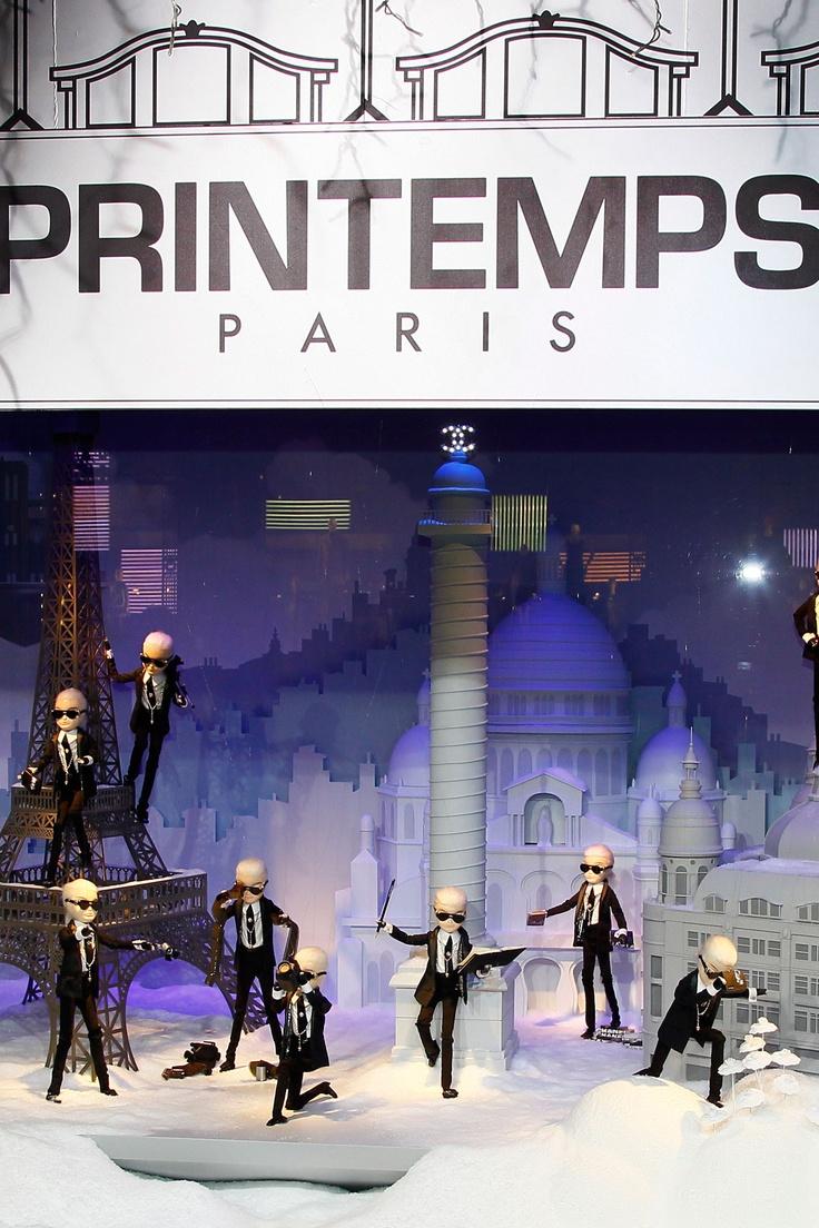 Karl Lagerfeld's Printemps window display for Christmas 2011