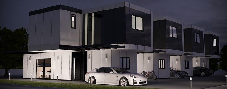 Las 25 mejores ideas sobre casas industrializadas en - Viviendas modulares diseno ...