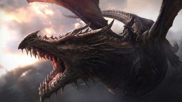 Aegon on Balerion, the Black Dread