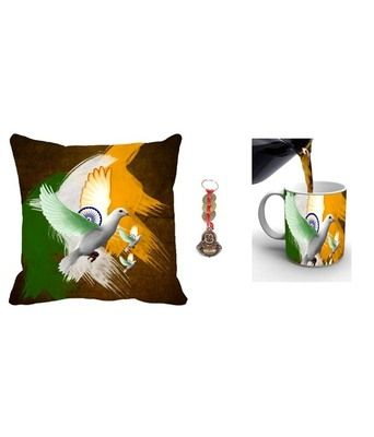 Mesleep Multicoloured Republic Day Gift Cushion Covers on Shimply.com