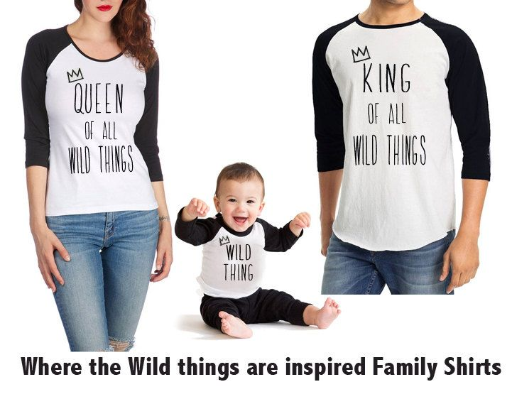 Where the wild things are inspired shirts, Birthday boy shirts, Birthday girl shirts, Birthday themed movie t-shirts, Matching Family shirts  Made to order using American Apparel, Poly-Cotton-50/50, 3/4 Sleeve Raglan/Baseball Tee, baby and toddler t-shirt  Materials: Poly Cotton, Three Quarter Length Sleeve, Fifty Fifty, Soft Fabric, Durable Rib Neckband, Unisex, Not Intended for Sleepwear, Soft and Lightweight, Traditional Baseball Tee, Raglan Tee, Baseball Tee, American Apparel Raglan Tee