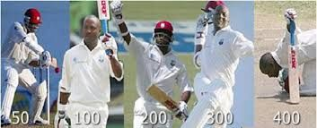 #Brain lara score a record of 400 runs in a test match