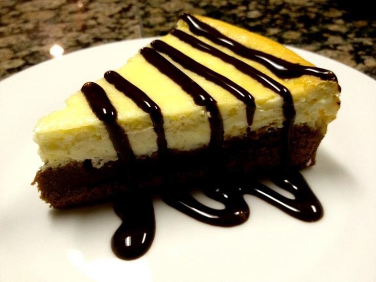 My first home-made Brownie Cheesecake.