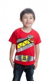 Camiseta Power Ranger Dino Charge Vermelho - CamisetasOnova