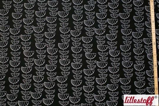####Liviata####  Black and White: Dieser schöne Jersey von lillestoff besteht zu 95 % aus Bio-Baumwolle und 5 % Elasthan. Schwarz-Weiß passt sich hervorragend an und kann sowohl mit bunten Stoffen kombiniert, als auch elegant zweifarbig bleiben. Der Stoff ist weich und eignet sich perfekt für schöne, Kleider und T-Shirts oder Pullover.   * 95 % Bio-Baumwolle, 5 % Elasthan * 150 cm breit * GOTS-zertifiziert  ####lillestoff####  Die Besonderheit der deutschen Marke lillestoff sind ständig…