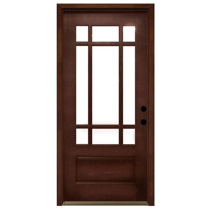 fiberglass entry doors home depot. craftsman 9 lite stained mahogany wood prehung front door fiberglass entry doors home depot