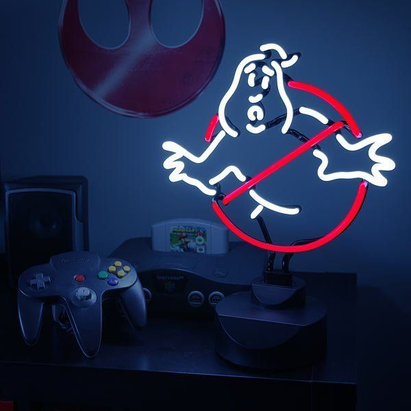If you're being harassed by real or imaginary ghosts, you need to call the Ghostbusters. If Bill Murray and his crew are stuck in a Groundhog Day loop or lost in translation somewhere, then the next best thing is the Ghostbusters Neon Sign. - http://thegadgetflow.com/portfolio/ghostbusters-neon-sign/