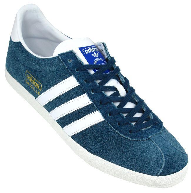 Adidas Trainers UK | Adidas Trainers Mens Gazelle OG Petrol Blue