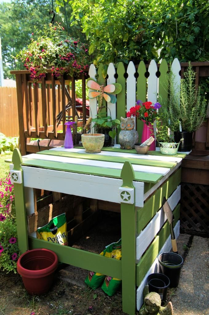 My Potting Bench made from wood pallets