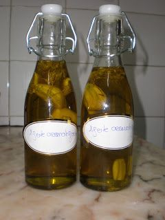 Azeite Aromatizado com Orégãos e Alho