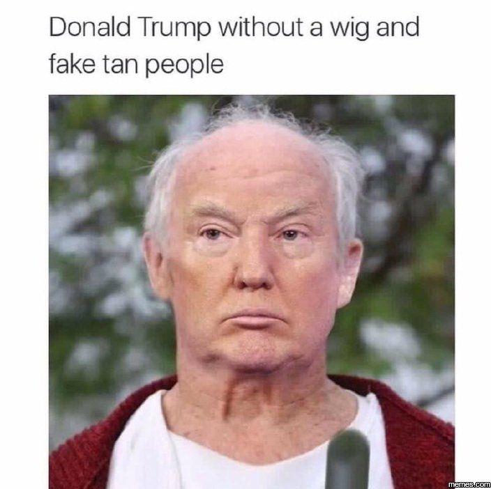 Donald Trump without a wig #Funny #Memespic.twitter.com/6YOkF1RedJ http://ibeebz.com