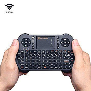 MECO Mini Clavier sans Fil Air Mouse avec Touchpad Souris Mouse Remote Control pour PC portable Raspberry Pi MacOS Linux HTPC Smart TV Box Android XBMC Windows 2000XP