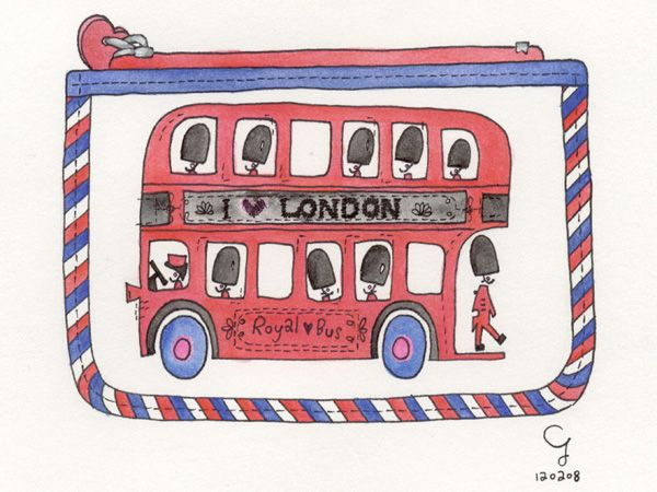 倫敦雙層巴士零錢包 Wallet about Bus in London