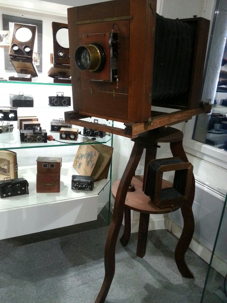 Vintage equipment in Museum of Photography in Gracay, France