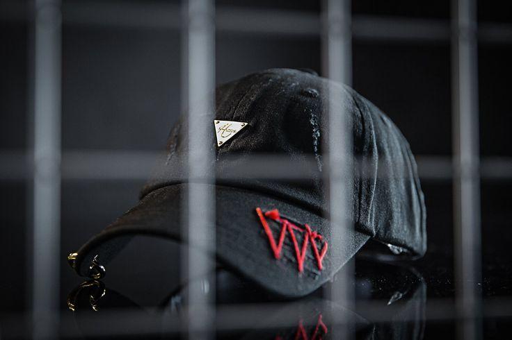 HATer WOOLEN X METAL DESTROYED CAP  - Black