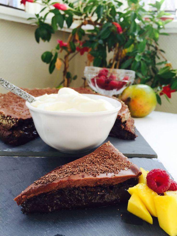 frufe.blogg.se - Kladdkaka med mjölkchokladtryffel
