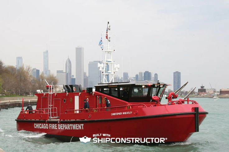 The Christopher Wheatly fireboat named after a young firefighter who had died in the line of duty. The vessel was designed by Robert Allan Ltd. and built in the Canadian shipyards of Hike Metal Products.