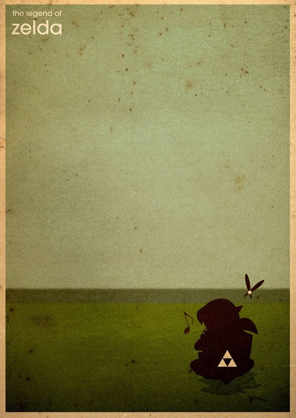 Minimalist Graphic Posters Of Classic Video Games - The Legend of Zelda.