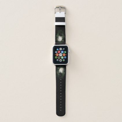 White Wild Rose on a Dark Background. Apple Watch Band - photography gifts diy custom unique special