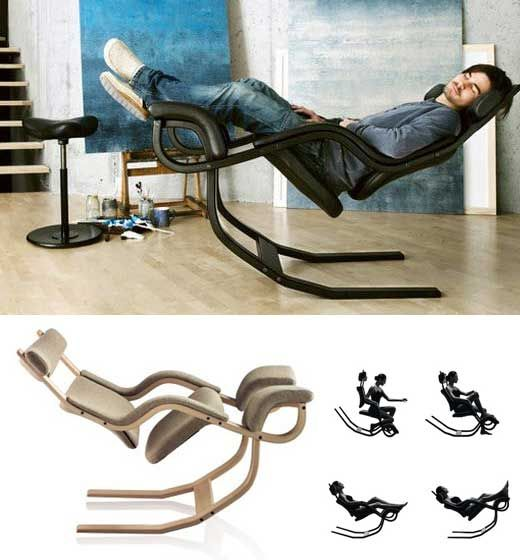 Gravity balance Chair - The unique design provides a wide range of seating options that will support the body throughout.