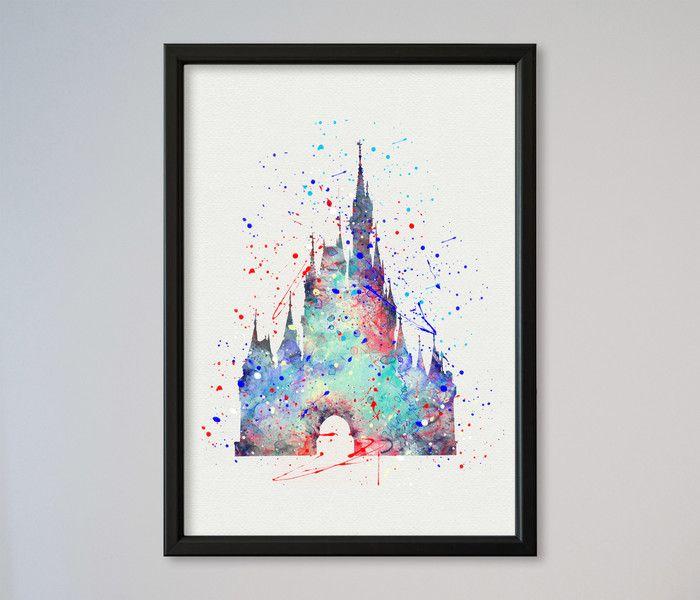 Cinderella Schloss Disney Castle Aschenputtel  von Traumweber auf DaWanda.com