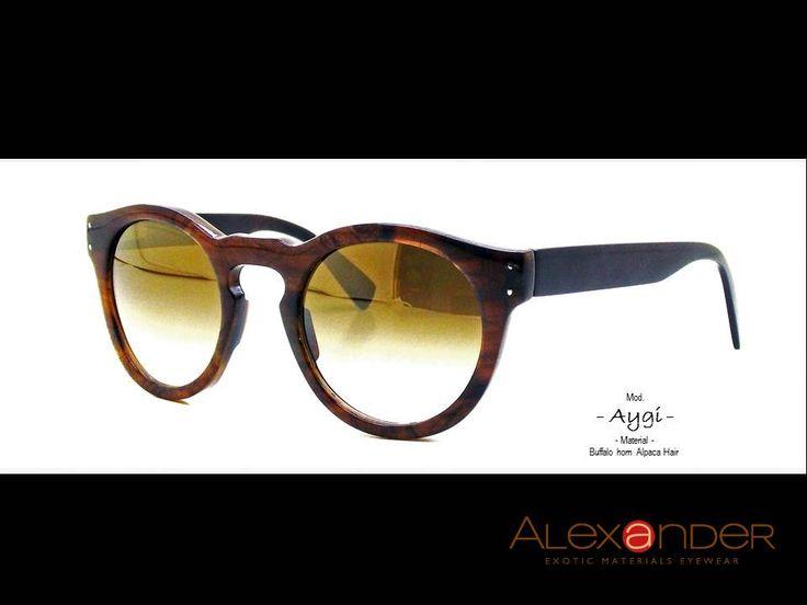 Sunglasses Handcrafted Eyewear buffalo horn with Alpaca hair 2016 by Alexandereyewear on Etsy