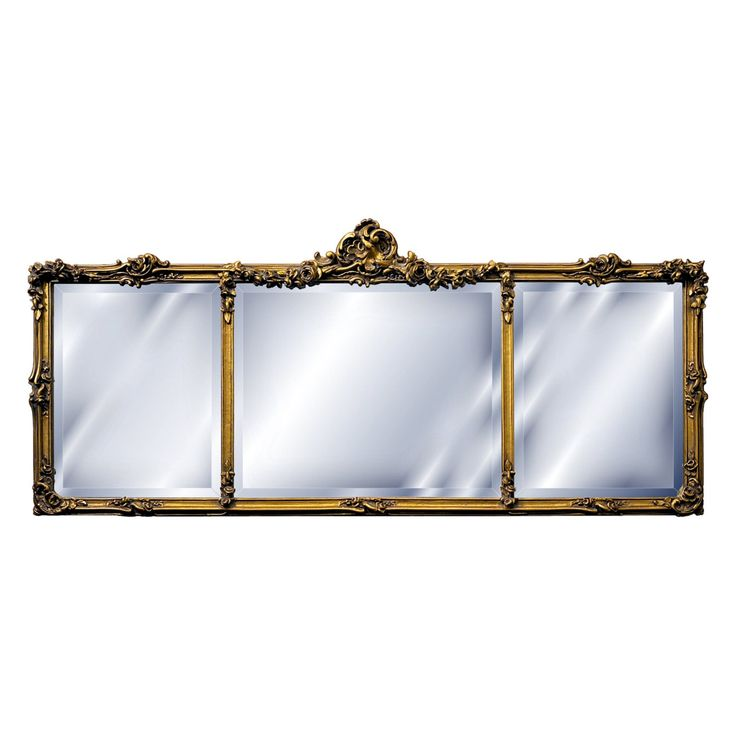 Hickory Manor House Georgian Mantel Mirror - 54W x 24H in. - 3254ACG