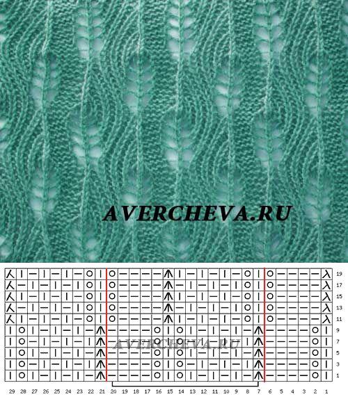 Узор 826| каталог вязаных спицами узоров