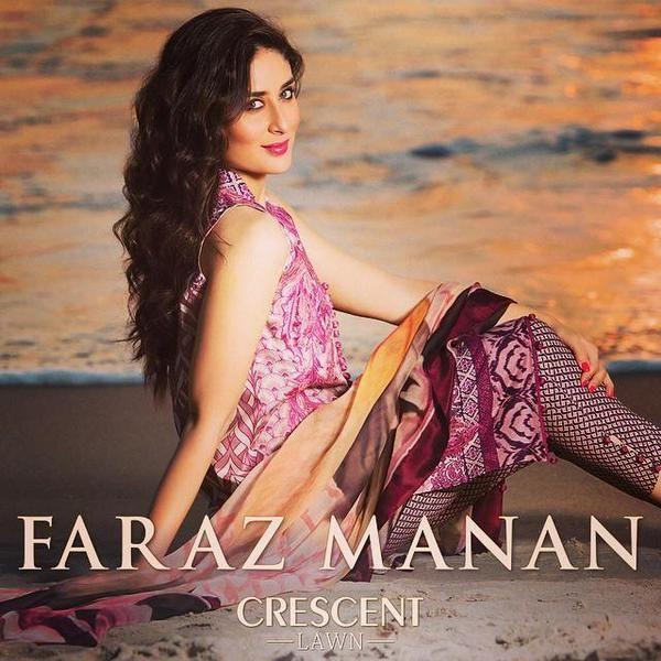 Kareena Kapoor Khan for Faraz Manan's Crescent Lawn Collection